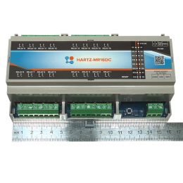 Релейный модуль на 16 каналов HARTZ-MR16DC фото #2