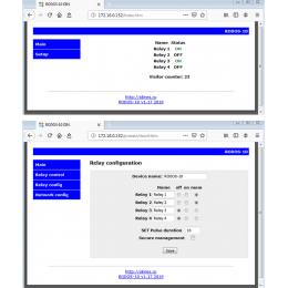 Интернет реле на 4 релейных канала RODOS-10 Open Frame  фото #4