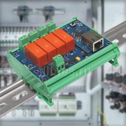 Интернет реле на 4 релейных канала RODOS-10 Open Frame