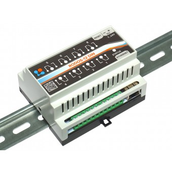 Ethernet реле на DIN рейку на 8 релейных каналов RODOS-12 DIN