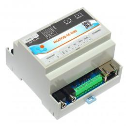 Интернет термостат/гигростат c 2-мя релейными каналами и логическими входами/выходами RODOS-16 DIN фото #8