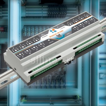 Ethernet реле на DIN рейку на 16 релейных канала RODOS-18 DIN фото #1