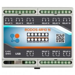USB реле на 10 релейных каналов RODOS-4R10 N фото #8