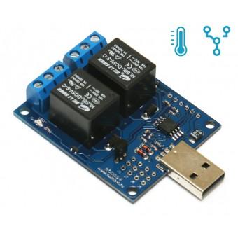 Rodos-6 (USB термометр/термостат, 2 релейных канала)