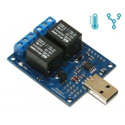 USB термометр/термостат c 2 релейными каналами RODOS-6