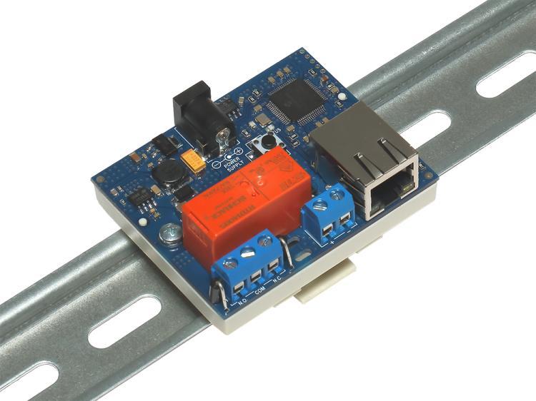 Рис.2 - Монтаж RODOS-8 Open Frame на DIN-рейку при помощи корпуса Sanhe 23-60 - вид сбоку