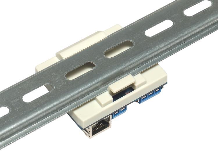 Рис.4 - Монтаж RODOS-8 Open Frame на DIN-рейку при помощи корпуса Sanhe 23-60 - вид сзади