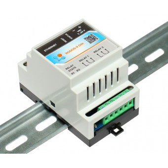 Ethernet реле на DIN рейку на 2 релейных канала RODOS-9 DIN