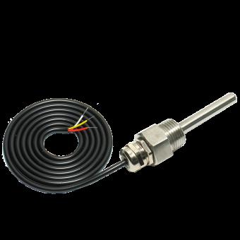 Датчик температуры DS18B20 ввинчиваемый/погружной длиной 3 метра